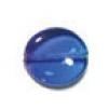Glass Bead Flat 15/14mm Blue/Lilac Wavy Oval - Strung